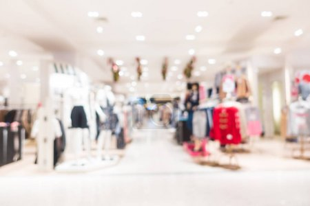 Abstract blur and defocused shopping mall