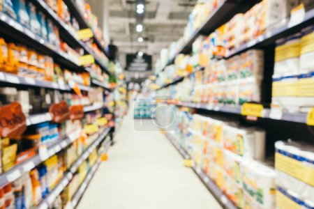 Abstract blur and defocused supermarket shopping in department s