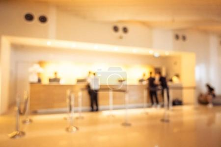 Abstract blur lobby interior of hotel for background