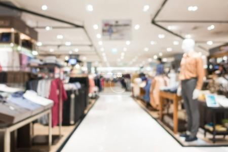 Abstract blur and defocused shopping mall in department store interior for background