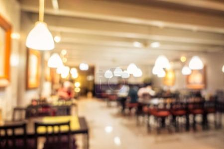 Abstract blur coffee shop cafe and restaurant interior for background - Vintage Filter