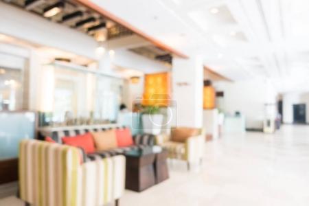 Photo pour Flou abstrait et hôtel de luxe belle défocalisé Hall et salon intérieurs pour le fond - image libre de droit