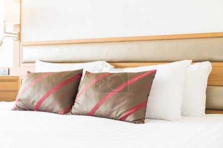 Comfortable pillow on bed