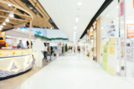Abstract blur shopping mall of deparmet store interior