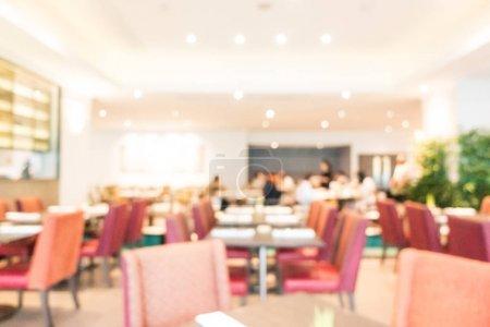 Photo pour Restaurant-buffet flou abstrait et café intérieur pour le fond - image libre de droit