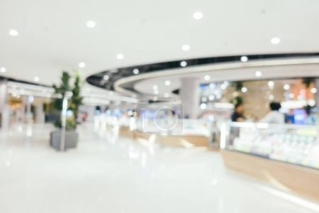 Abstract blur shopping mall of deparmet store interior for background