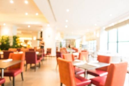 Abstract blur buffet restaurant and cafe interior for background