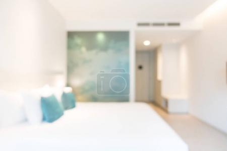 Résumé flou intérieur chambre à coucher pour le fond