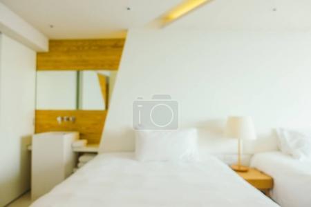 Flou abstrait Pasante intérieur de chambre d'hôtel pour le fond