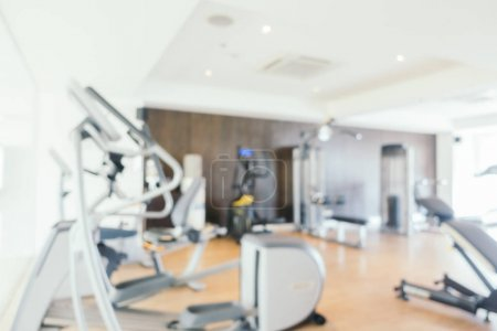 Photo for Abstract blur fitness equipment and gym interior for background - Royalty Free Image