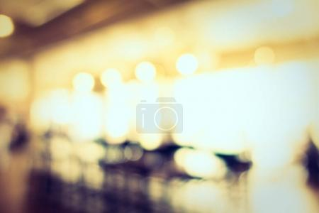 Abstract blur defocused coffee shop cafe