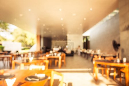 Abstract blur and defocused restaurant buffet in hotel resort