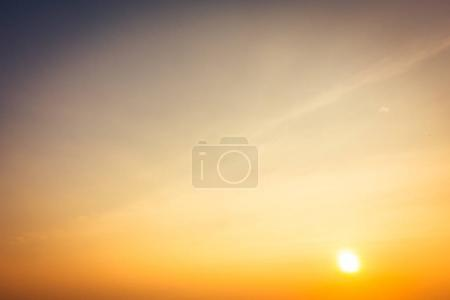 Photo for Beautiful sunset on sky background - Vintage Filter - Royalty Free Image