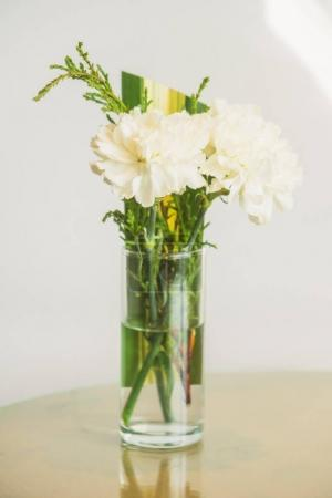 Photo for Vase with white flower on table decoration interior of room - Royalty Free Image