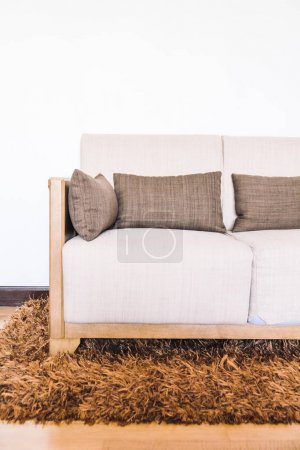 Photo for Pillow on sofa decoration of living area - Royalty Free Image