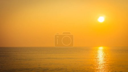 Photo for Beautiful sunrise on the beach and sea - Vacation concept - Royalty Free Image