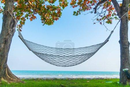Hammock on the beach sea