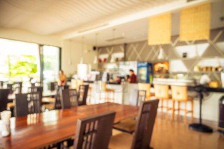 Foto de Resumen blur y interior restaurante defocused para fondo - Imagen libre de derechos