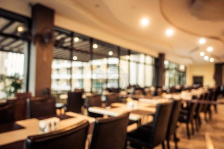 Photo for Abstract blur and defocused restaurant interior for background - Royalty Free Image