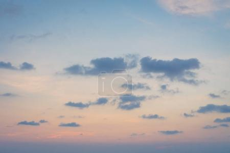 Photo for Beautiful cloud on sky at sunset time - Royalty Free Image