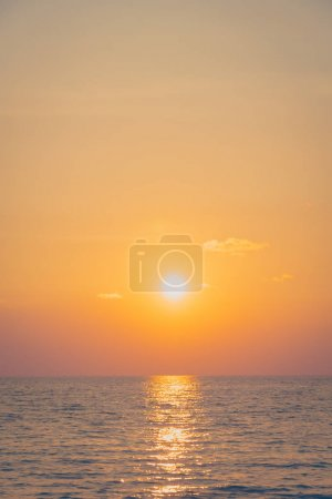 Photo for Beautiful sunset on the beach and sea - Royalty Free Image