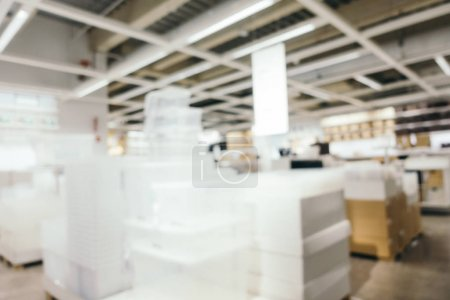 Abstract blur furniture decoration and warehouse store