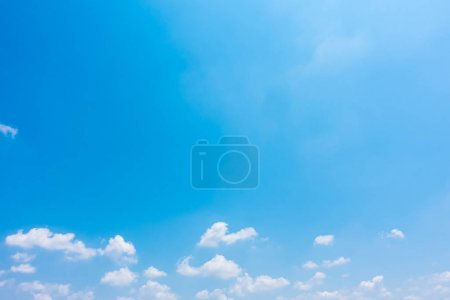 Photo for Beautiful nature with white cloud on blue sky - Royalty Free Image