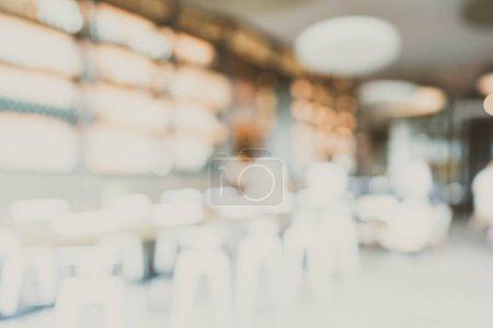 Photo pour Intérieur abstrait de café de restaurant et de café de flou et de défocus pour l'arrière-plan - image libre de droit