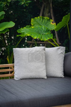 Photo for Comfortable pillow on sofa chair decoration interior - Royalty Free Image