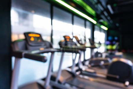 Photo for Abstract blur gym and fitness equipment interior of room for background - Royalty Free Image