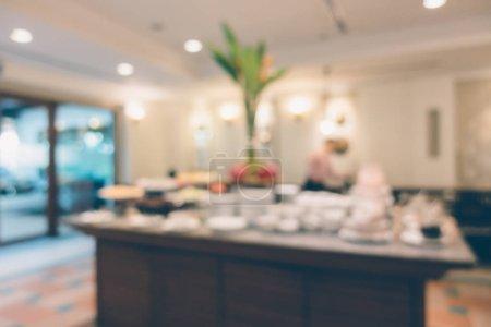 Café abstrait flou et intérieur du restaurant