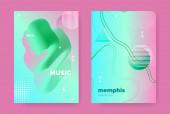 Graphic Memphis Geometric Background