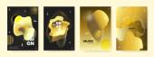 Golden Liquid Background Luxury Abstract Banner