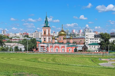 Znamensky Cathedral in Barnaul, Russia