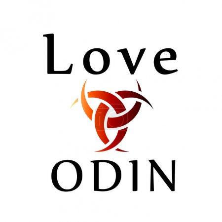 Love Odin- symbol of the horns of Odin, a satanist...