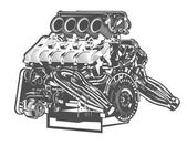 vector high detailed illustration of car engine