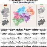 Germany state North Rhine-Westphalia high detailed...