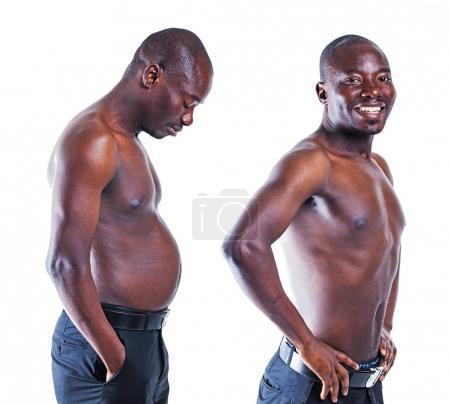men showing  torsos