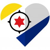 Vector image of the Bonaire flat heart flag