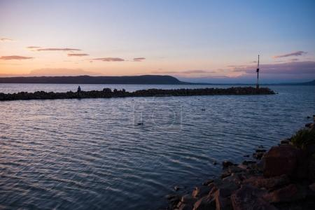 sunset on Balaton lake