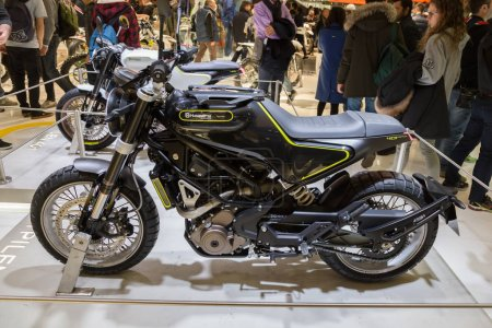Husqvarna motorbike on display at
