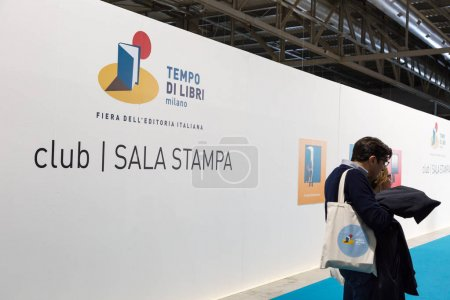 Photo for MILAN, ITALY - APRIL 19: People visit Tempo di Libri, the new Italian Publishing Fair on APRIL 19, 2017 in Milan. - Royalty Free Image