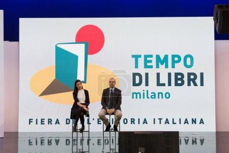 Photo for MILAN, ITALY - APRIL 19: Journalists at Tempo di Libri, the new Italian Publishing Fair on APRIL 19, 2017 in Milan. - Royalty Free Image