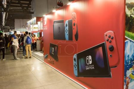 Photo for MILAN, ITALY - SEPTEMBER 29: People visit Games Week 2017, event dedicated to video games and electronic entertainment on SEPTEMBER 29, 2017 in Milan. - Royalty Free Image