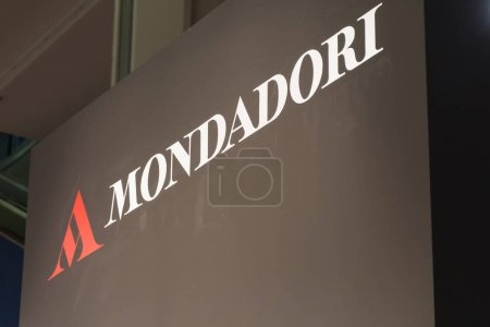Photo for MILAN, ITALY - MARCH 8: Mondadori logo at Tempo di Libri, the new Italian Publishing Fair on MARCH 8, 2018 in Milan. - Royalty Free Image