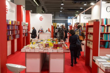 Photo for MILAN, ITALY - MARCH 8: People visit Tempo di Libri, the new Italian Publishing Fair on MARCH 8, 2018 in Milan. - Royalty Free Image