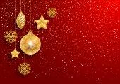 Slavnostní červené vánoční pozadí