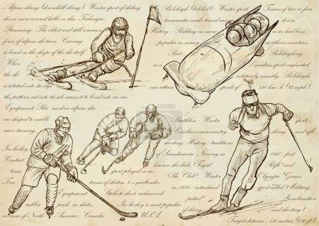 Winter sports An hand drawn