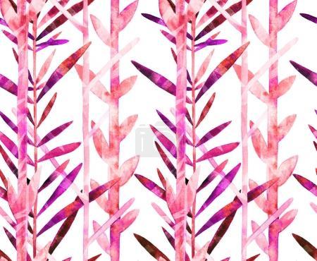 watercolor pink leaves