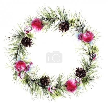 decorative wreath for greeting card